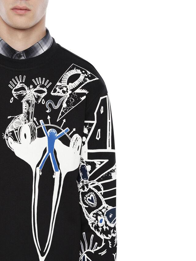 Diesel - SNEILB-GRAFFITI, Black - Sweatshirts - Image 3