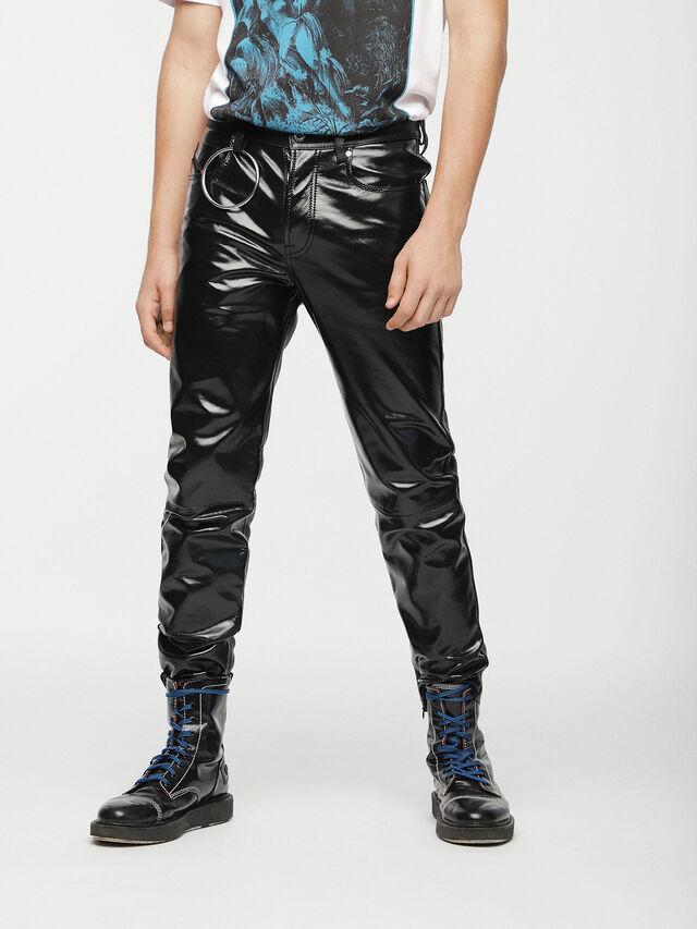 Diesel - P-MHARKY, Black Leather - Pants - Image 4