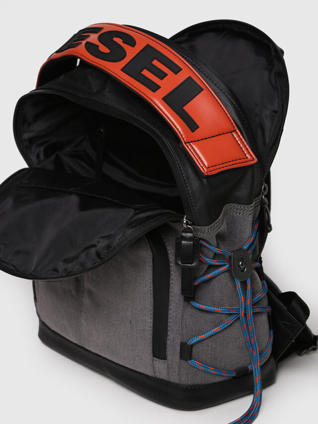 Diesel - D-MASTER BACK, Grey - Backpacks - Image 3