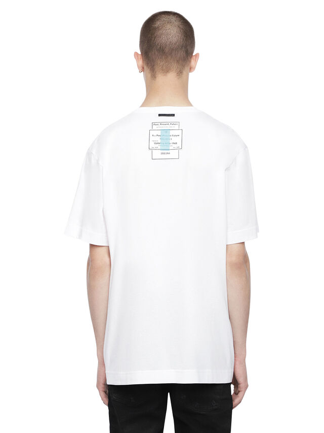Diesel - TEORIAL-PATCH, White - T-Shirts - Image 2