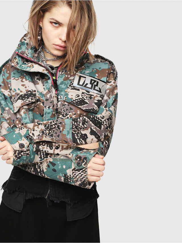 Diesel - G-SHILOH-A, Green Camouflage - Jackets - Image 1