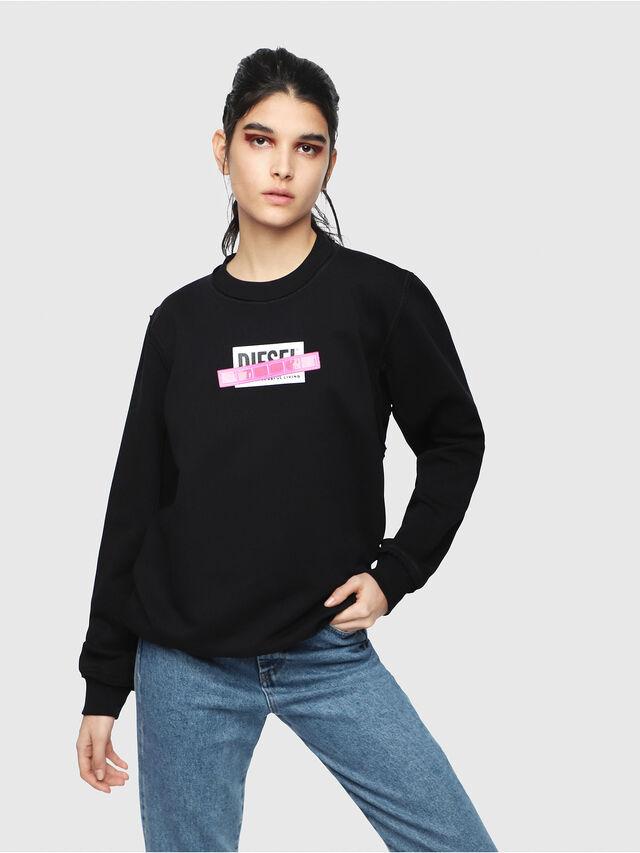 Diesel - F-LYANY-B, Black - Sweatshirts - Image 1