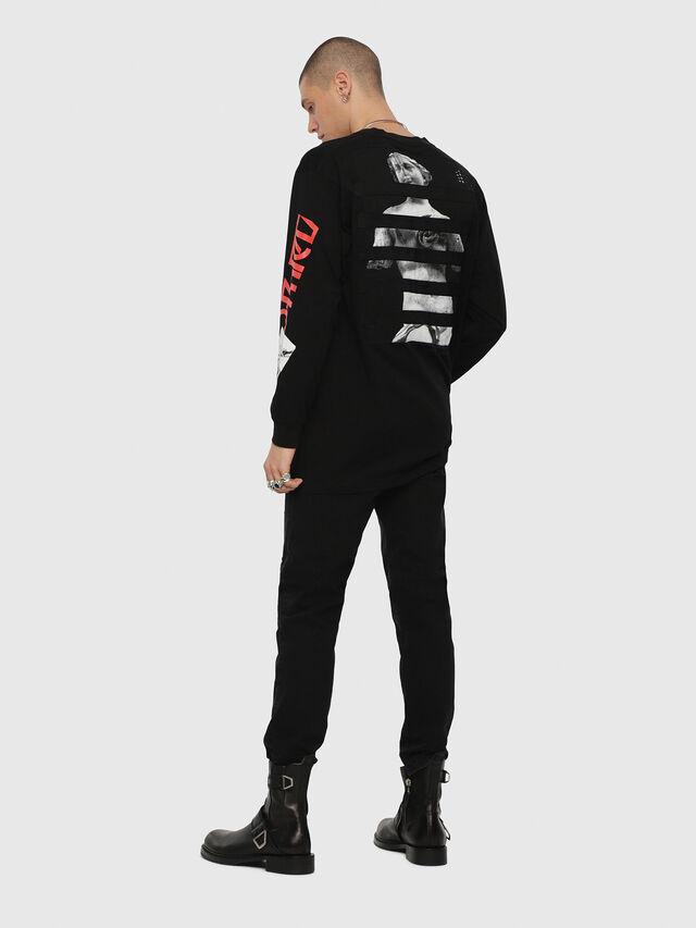 Diesel - T-LUCAS-LS-YB, Black - T-Shirts - Image 4