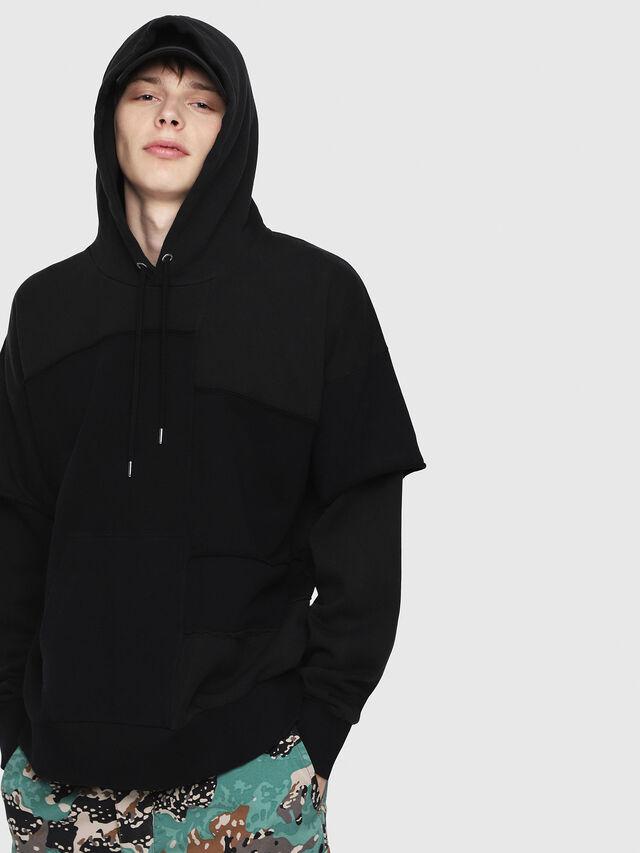 Diesel - S-TADAO, Black - Sweatshirts - Image 4