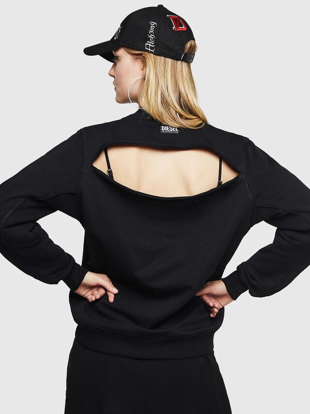 Diesel - F-LYANYDY-B, Black - Sweatshirts - Image 2