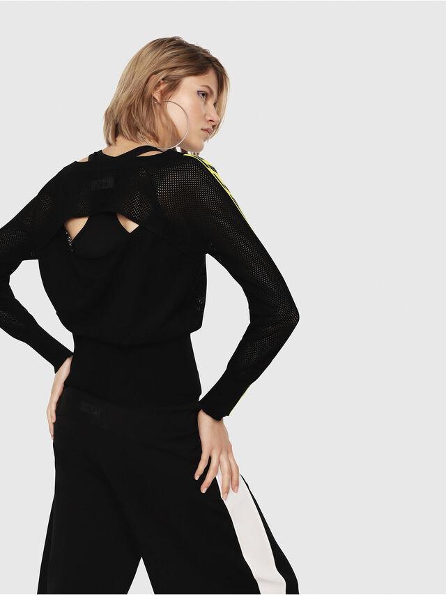 Diesel - M-NANCY, Black/Yellow - Sweaters - Image 2