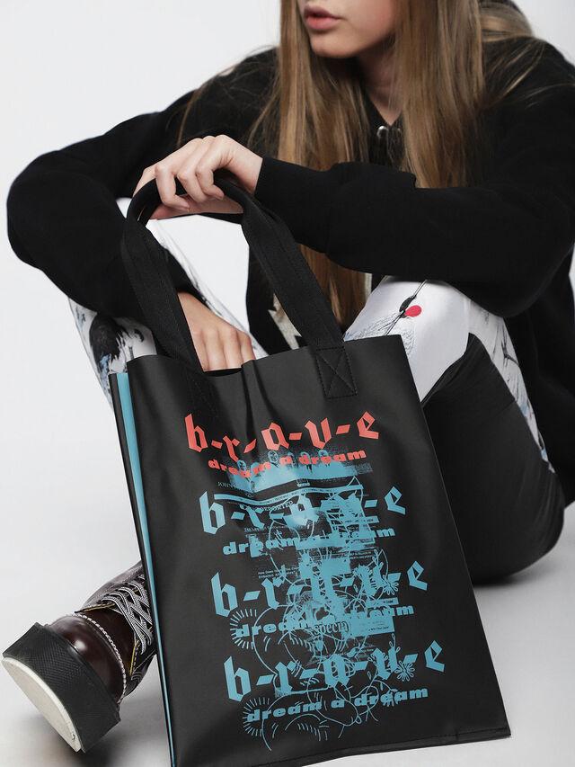 Diesel - F-BILLBOARD SHOPPER, Black/Red - Shopping and Shoulder Bags - Image 4