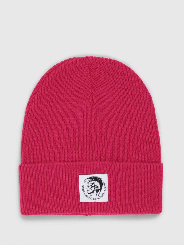 Diesel - K-CODER, Hot pink - Knit caps - Image 1