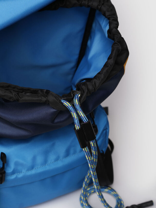 Diesel - M-INVICOLAB BACK I, Blue/Yellow - Backpacks - Image 6