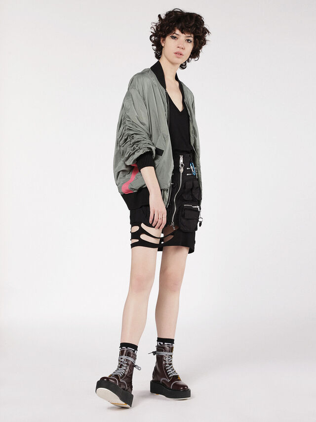 Diesel - G-KRISTA-A, Olive Green - Jackets - Image 4