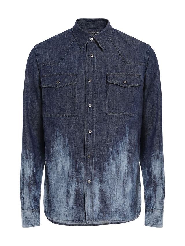 Diesel - SENEKA, Blue - Shirts - Image 1