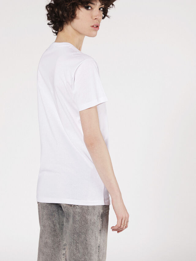 Diesel - T-LIGA, White - T-Shirts - Image 3
