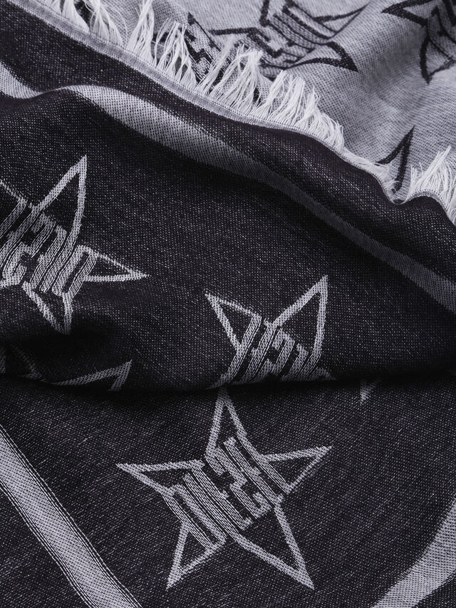 Diesel - S-STAR, Gray/Black - Scarves - Image 2