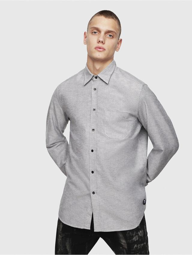 Diesel - S-MOI-R, Grey - Shirts - Image 1