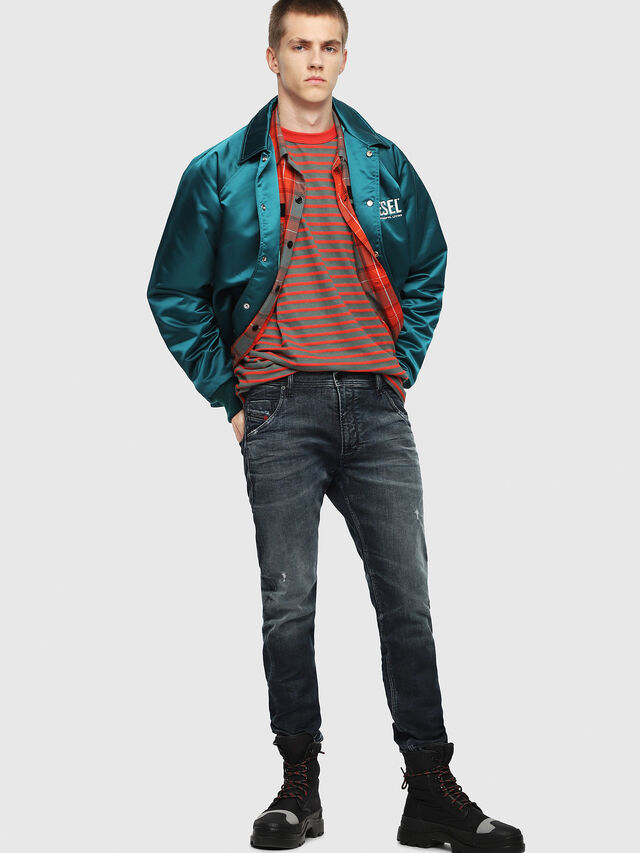 Diesel - Krooley JoggJeans 087AI, Dark Blue - Jeans - Image 4