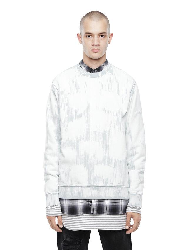 Diesel - SNEILBRU, White/Grey - Sweatshirts - Image 1