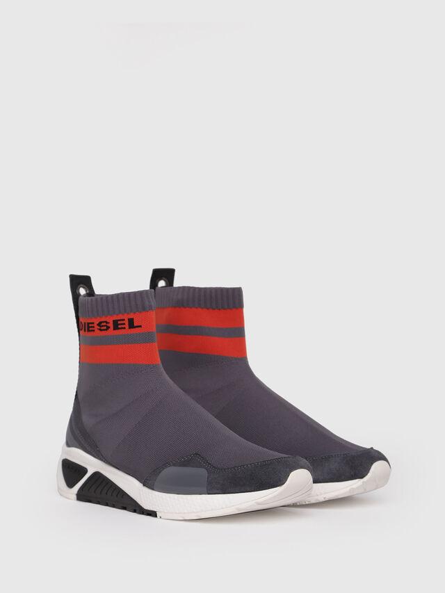 Diesel - S-KB SOCK, Grey/Red - Sneakers - Image 3