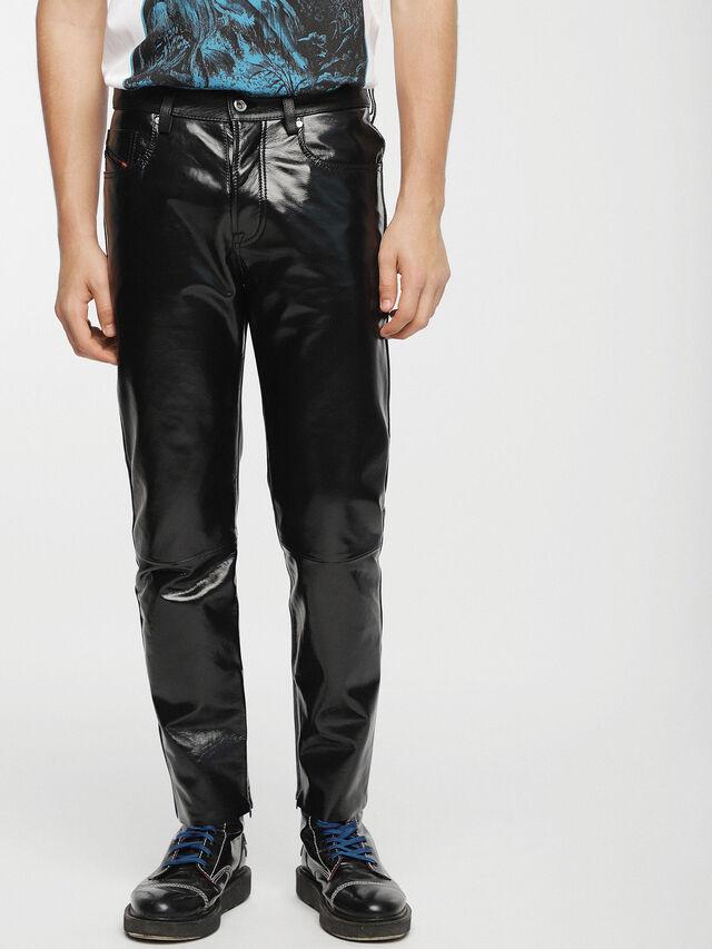 Diesel - P-MHARKY, Black Leather - Pants - Image 1
