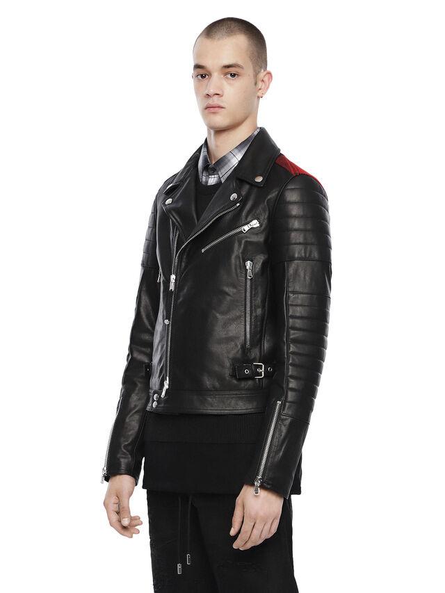 Diesel - LOCHECK, Black - Leather jackets - Image 7