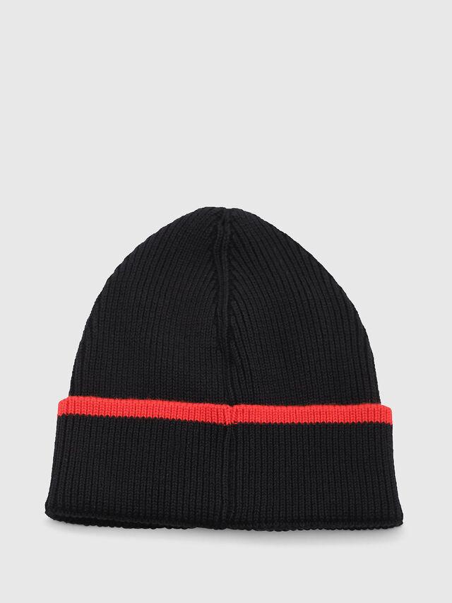 Diesel - DVL-BANY-CAPSULE, Black/Red - Knit caps - Image 2