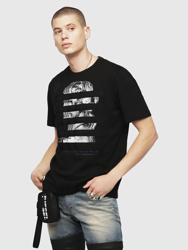Diesel - T-JUST-YO, Black - T-Shirts - Image 1