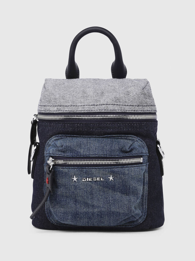 Diesel - F-DESTAR BACKPACK, Blue - Backpacks - Image 1