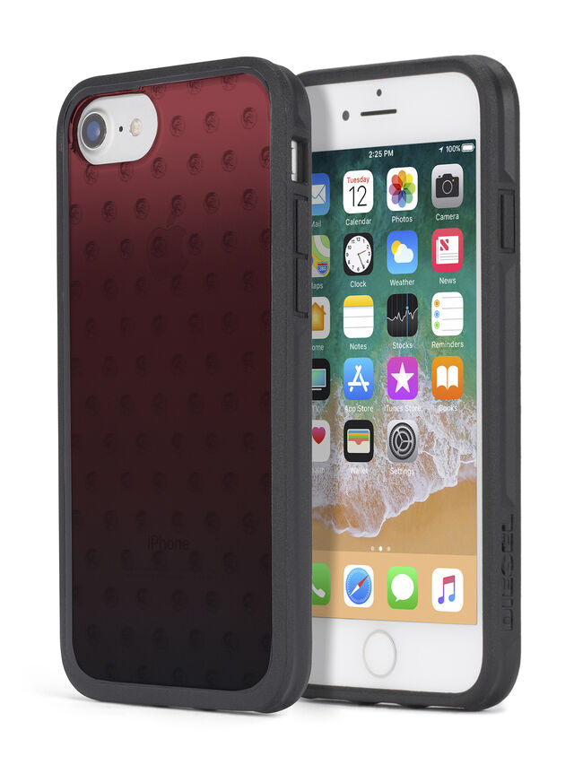 Diesel - MOHICAN HEAD DOTS RED IPHONE 8 PLUS/7 PLUS/6s PLUS/6 PLUS CASE, Red - Cases - Image 1