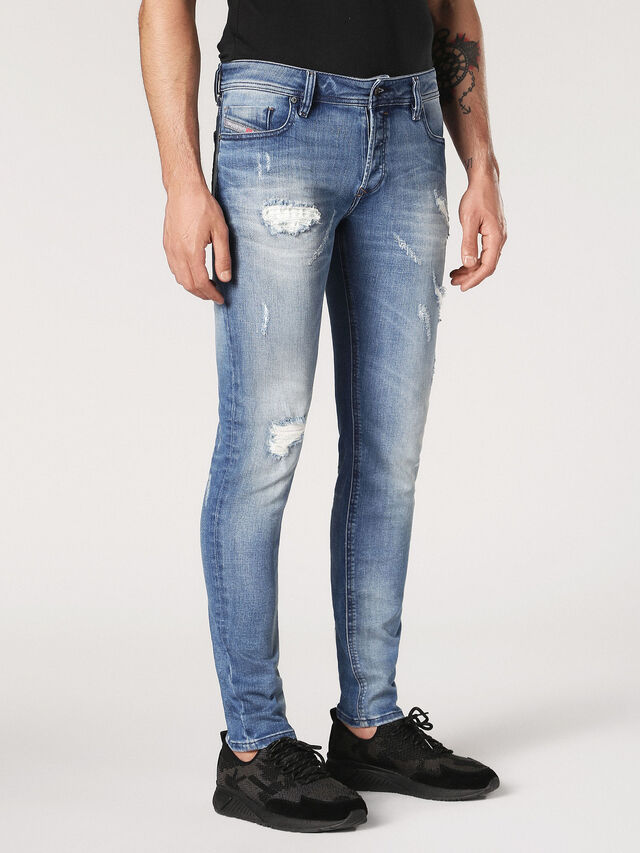 Diesel - Sleenker CN084, Light Blue - Jeans - Image 4