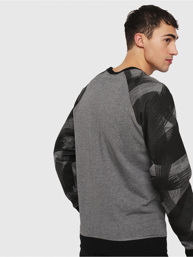 Diesel - UMLT-MAX, Gray/Black - Sweatshirts - Image 2