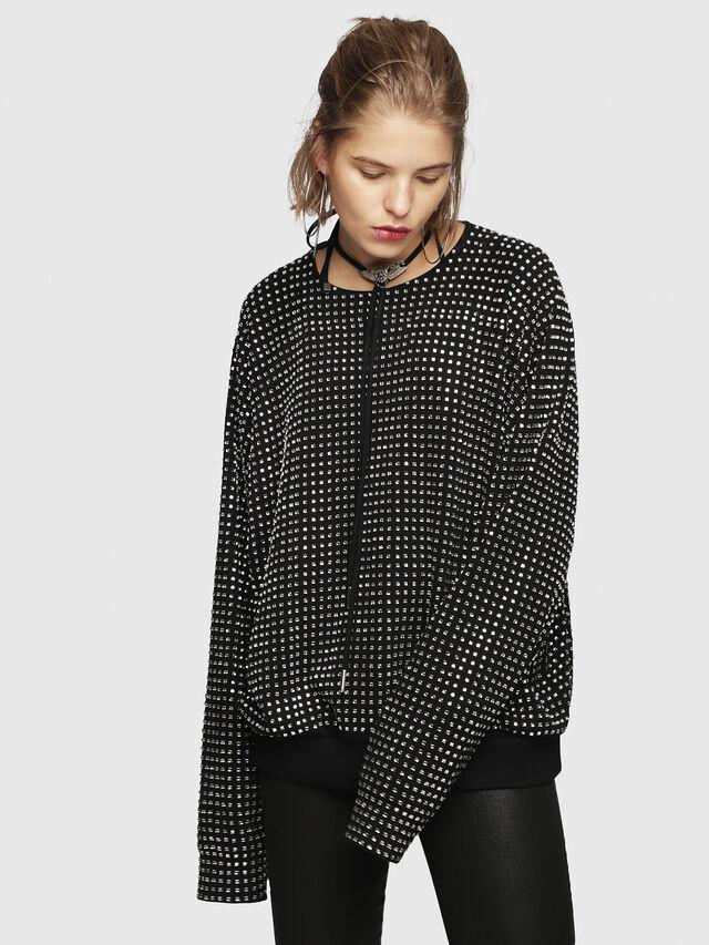Diesel - F-NEW, Black - Sweatshirts - Image 1
