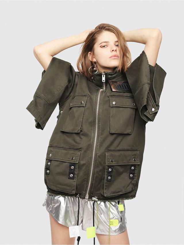 Diesel - G-LEE-B, Military Green - Jackets - Image 6