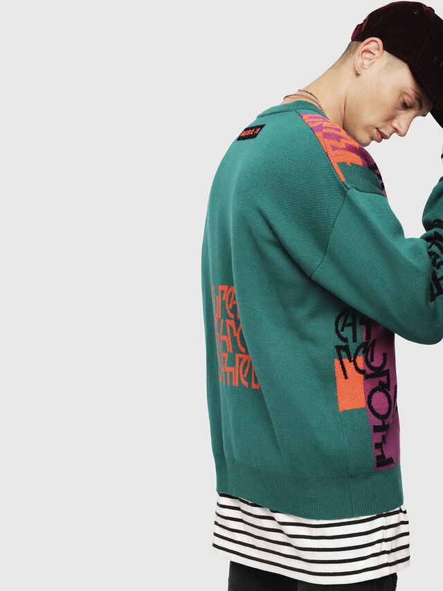 Diesel - K-NOX, Dark Green - Sweaters - Image 3