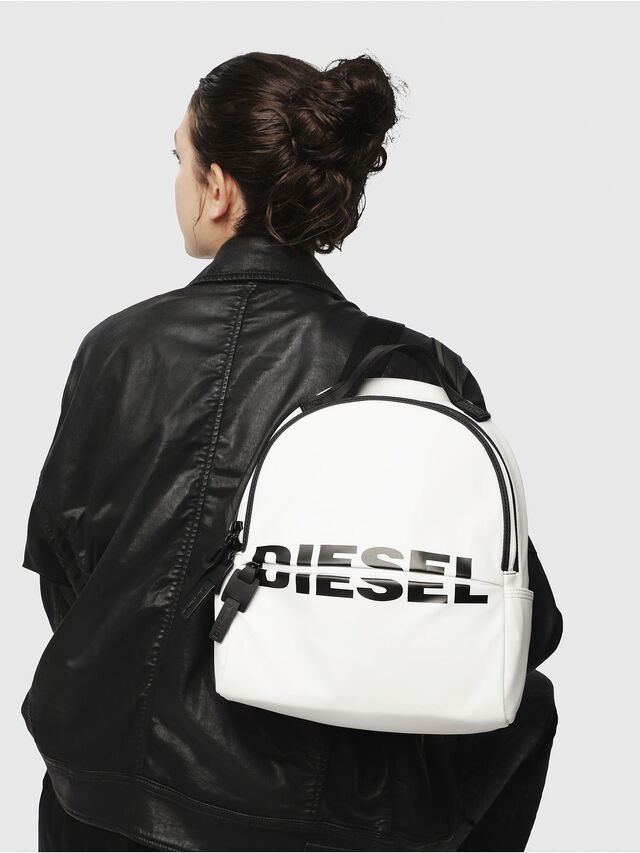 Diesel - F-BOLD BACK FL, White - Backpacks - Image 5