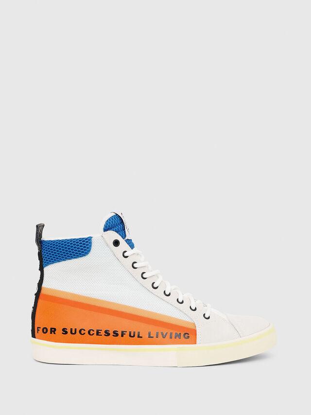 Diesel - S-DVELOWS MID, White/Orange - Sneakers - Image 1