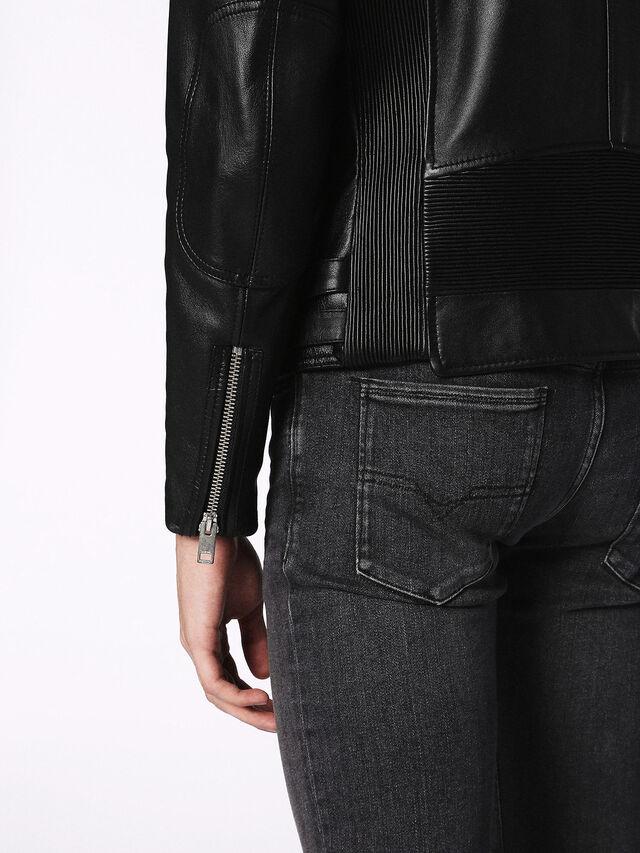 Diesel - L-KRAMPS, Black - Leather jackets - Image 7