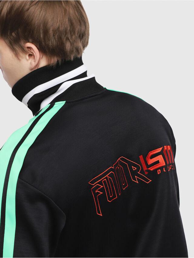 Diesel - S-HISOKA, Black/Green - Sweatshirts - Image 3