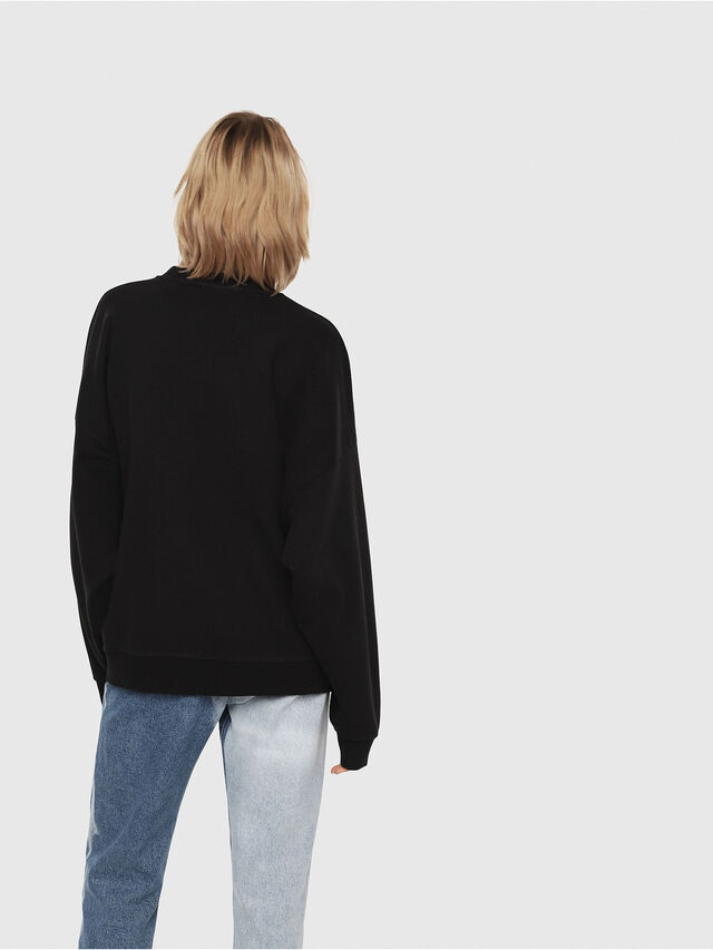 Diesel - F-YOSHIOR-Y1-FL, Black/White - Sweatshirts - Image 2