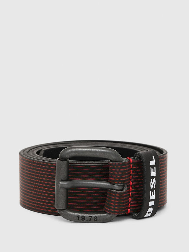 Diesel - B-CAVA, Black/Red - Belts - Image 1