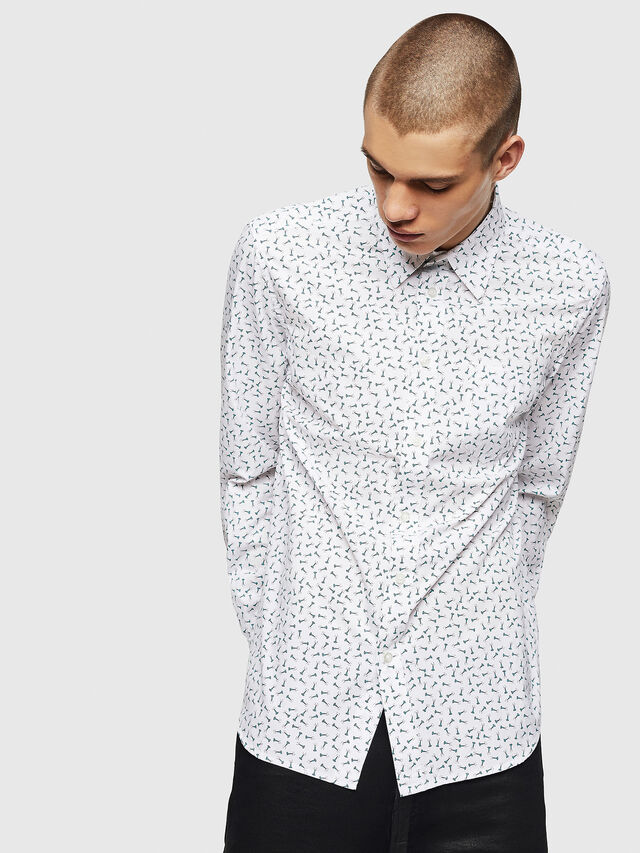 Diesel - S-VEN-NAIL, White - Shirts - Image 4