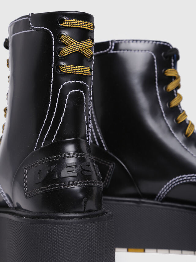 Diesel - D-CAGE HB, Bright Black - Ankle Boots - Image 4