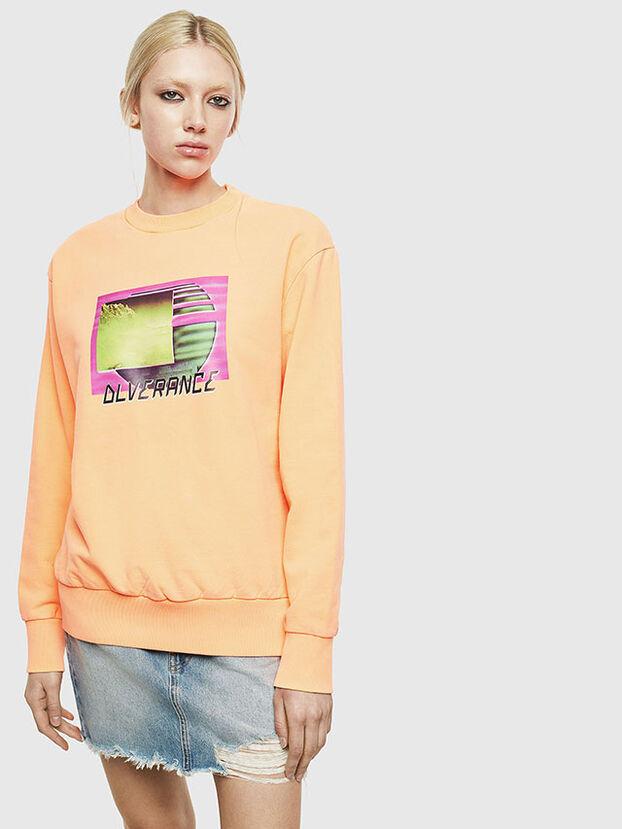 S-BIAY-FLUO, Orange - Sweatshirts