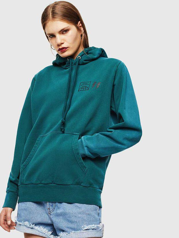 S-GIRK-HOOD-SUN, Dark Green - Sweatshirts