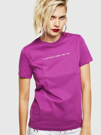 Diesel - T-SILY-COPY, Dark Violet - T-Shirts - Image 1