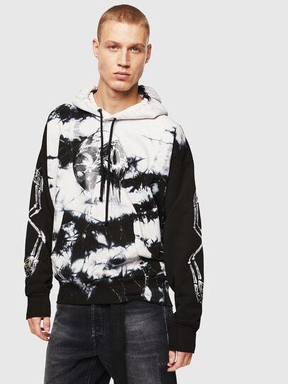 Diesel - S-ALBY-Y, Black/White - Sweatshirts - Image 1