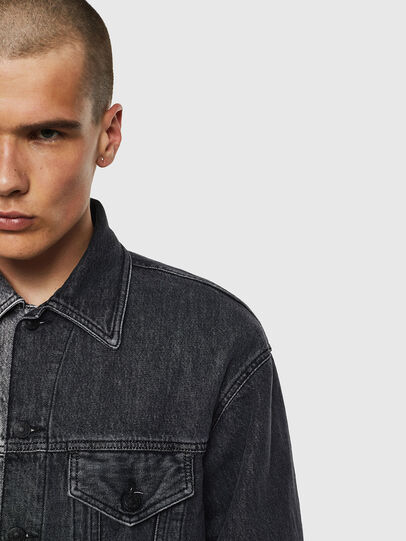 Diesel - D-POLL, Black - Denim Jackets - Image 3