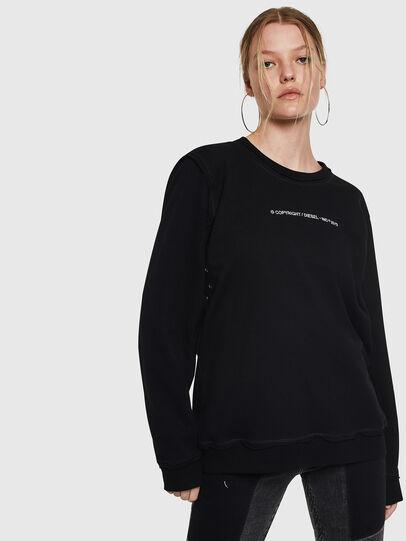 Diesel - F-LYANY-F, Black - Sweatshirts - Image 1