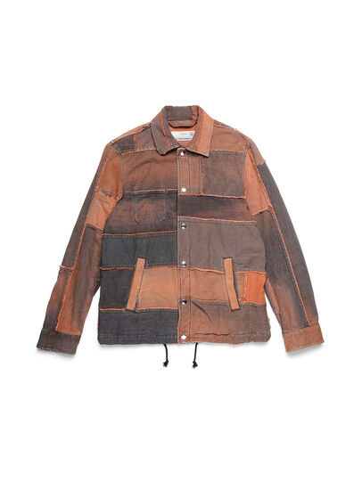 Diesel - D-COACINQUE5, Orange - Denim Jackets - Image 1