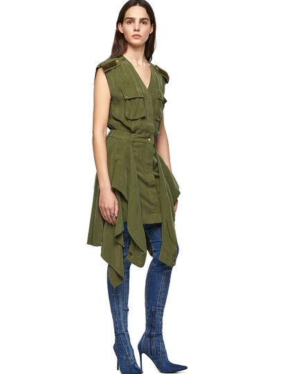 Diesel - D-GIUDITTA, Olive Green - Dresses - Image 5