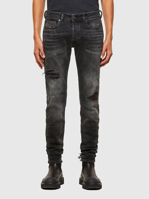 Sleenker 009JN, Black/Dark Grey - Jeans