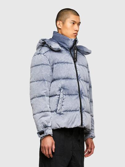 Diesel - W-EVACID-A, Light Blue - Winter Jackets - Image 5